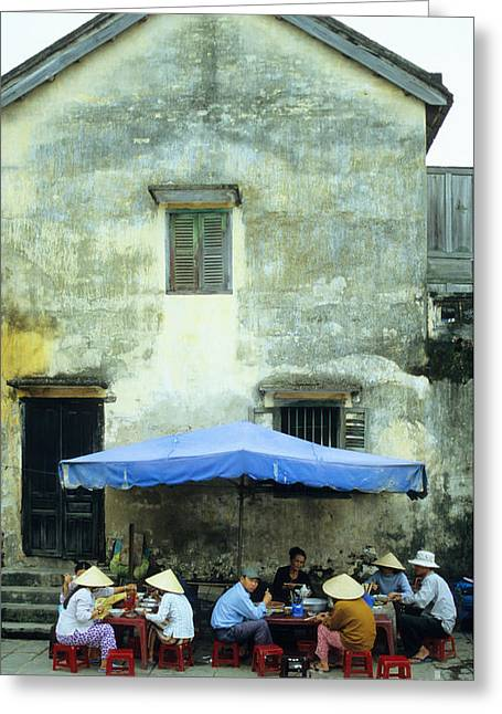 Noodles Greeting Cards - Hoi An Noodle Stall 01 Greeting Card by Rick Piper Photography