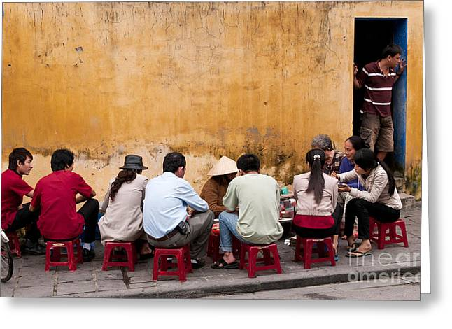 Noodles Greeting Cards - Hoi An Noodle Stall 05 Greeting Card by Rick Piper Photography
