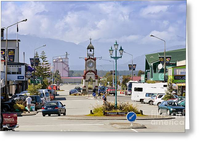 Hokitika Street Scene West Coast New Zealand Greeting Card by Colin and Linda McKie