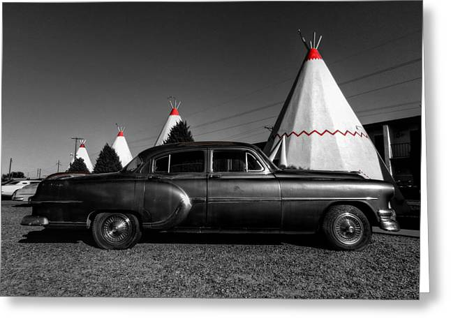 Tipis Greeting Cards - Holbrook AZ - Wigwam Motel 004 Greeting Card by Lance Vaughn