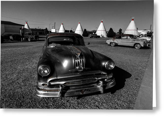 Tipis Greeting Cards - Holbrook AZ - Wigwam Motel 005 Greeting Card by Lance Vaughn