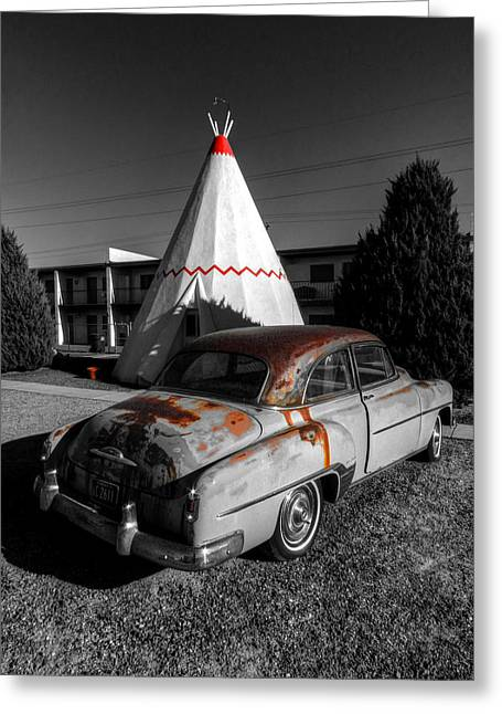 Tipis Greeting Cards - Holbrook AZ - Wigwam Motel 007 Greeting Card by Lance Vaughn