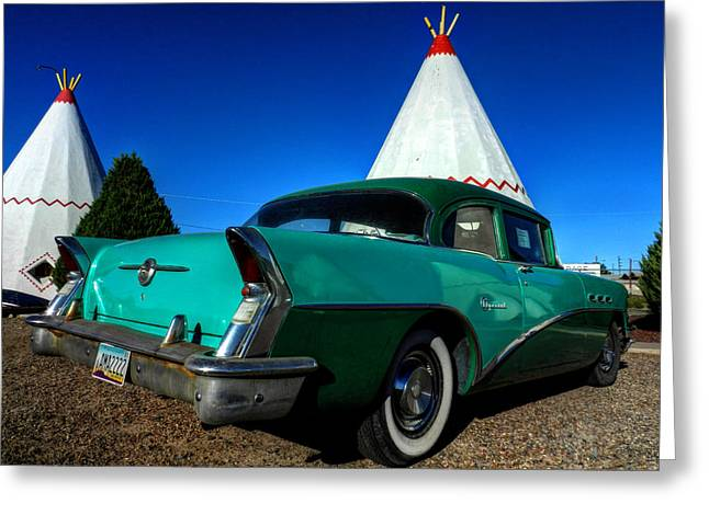 Americana Greeting Cards - Holbrook AZ - Wigwam Motel 008 Greeting Card by Lance Vaughn