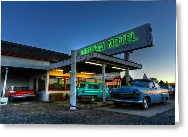 Station Wagon Greeting Cards - Holbrook AZ - Wigwam Motel 010 Greeting Card by Lance Vaughn