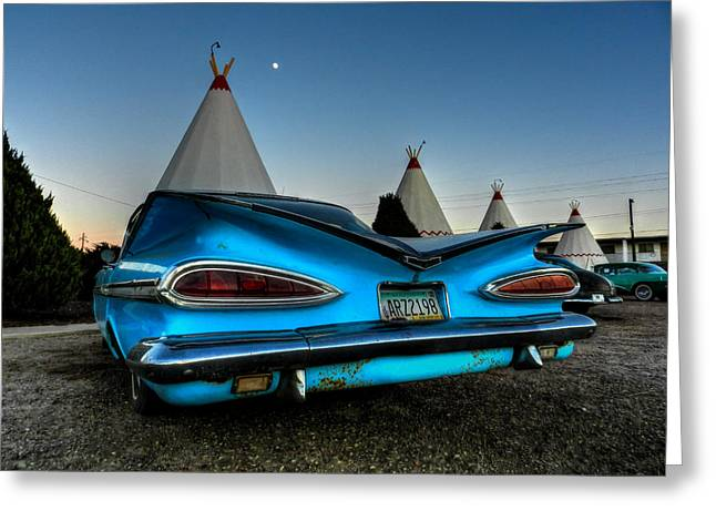 Tipis Greeting Cards - Holbrook AZ - Wigwam Motel 011 Greeting Card by Lance Vaughn