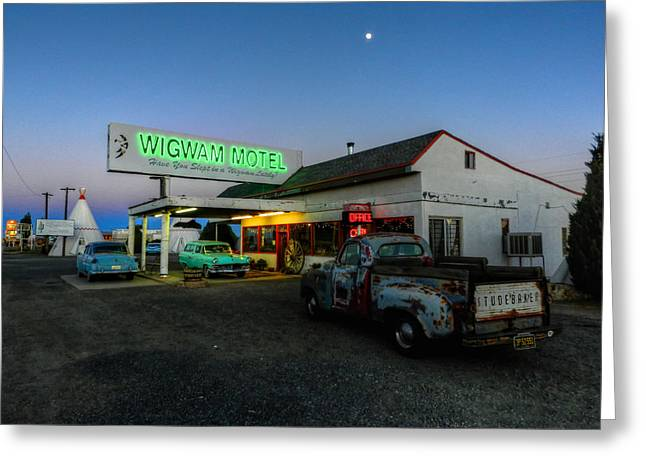 Pickup Greeting Cards - Holbrook AZ - Wigwam Motel 014 Greeting Card by Lance Vaughn