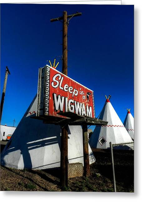 Tipis Greeting Cards - Holbrook AZ - Wigwam Motel 015 Greeting Card by Lance Vaughn
