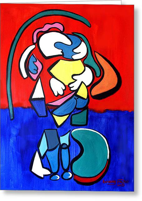 Couple In Love Greeting Cards - Hold Me Greeting Card by Anthony Falbo