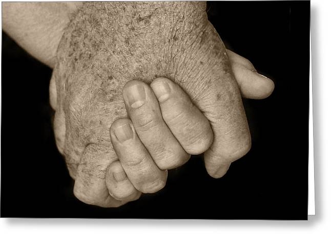 Symbolizes Greeting Cards - Hold My Hand Greeting Card by Nikolyn McDonald
