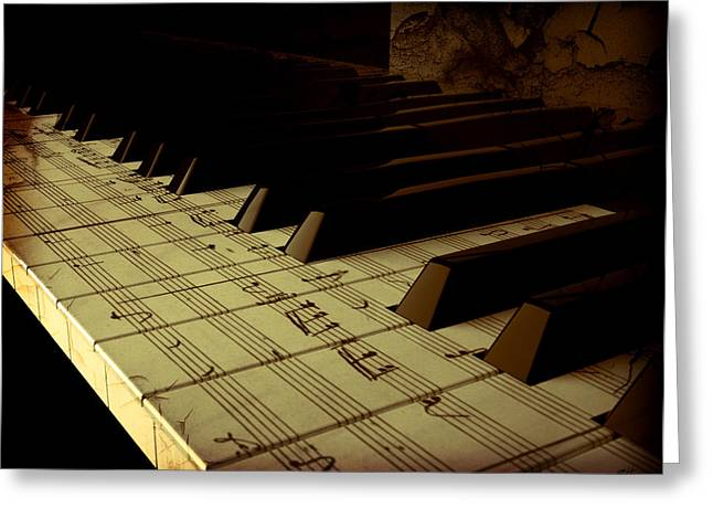hold Piano Greeting Card by Bruno Haver