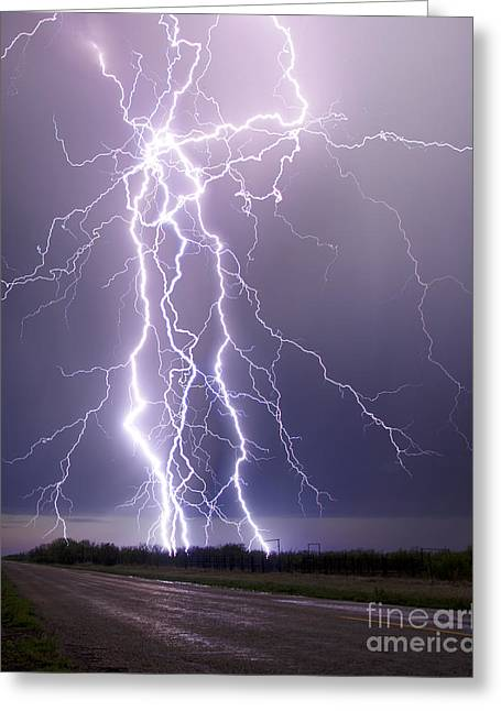 Lightning Photographer Greeting Cards - Hold The Heavens From The Earth Greeting Card by Ryan Smith