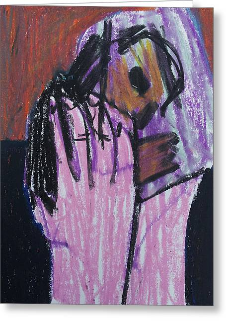 Expressionist Pastels Greeting Cards - Holding Baby Up Greeting Card by Anon Artist