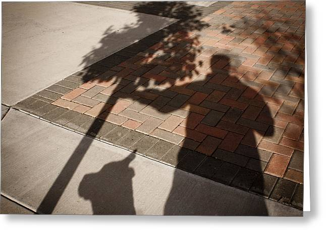 Self-portrait Photographs Greeting Cards - Holding It Up Greeting Card by Richard Malin