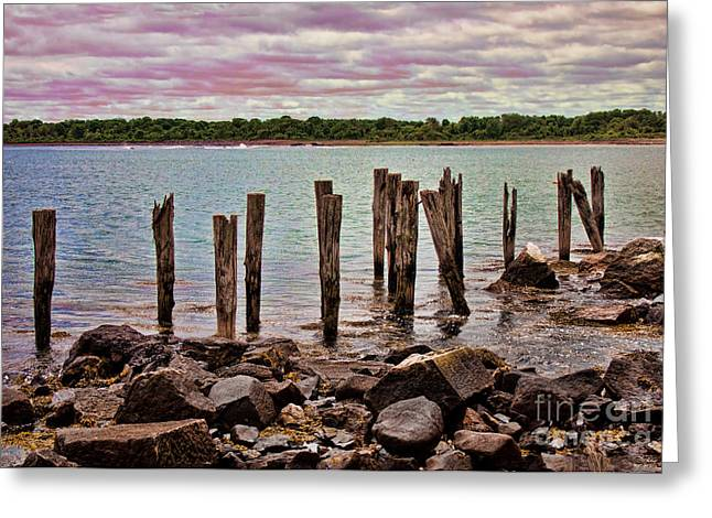 Wood Pier Framed Prints Greeting Cards - Holding On To Nothing Greeting Card by K Hines