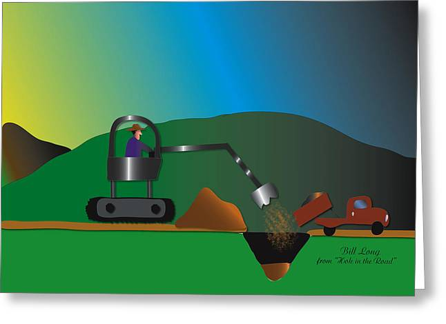 Large Scale Greeting Cards - Hole in the Road Greeting Card by Dr Bill  Long