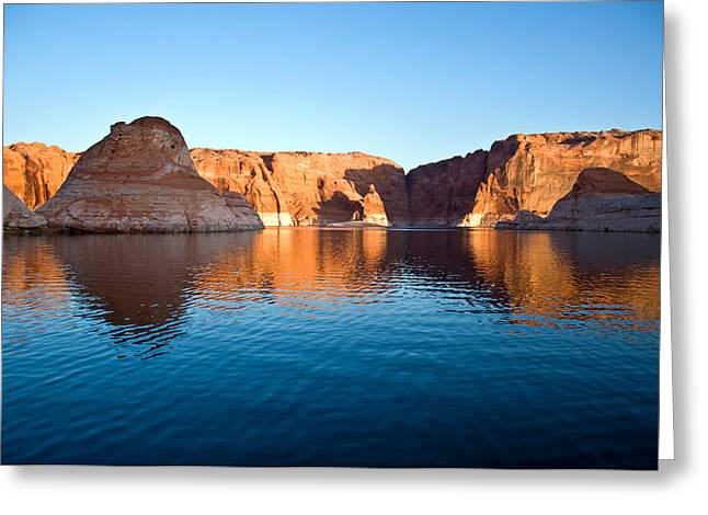 Holes In Sandstone Greeting Cards - Hole in the rock L.P. Greeting Card by Eric Rundle