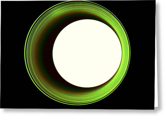 Zeitgeist Greeting Cards - Hole in the Wall - Green Greeting Card by Dietmar Scherf