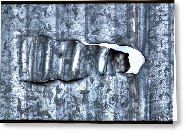 Michaela Preston Greeting Cards - Hole in Wall Greeting Card by Michaela Preston