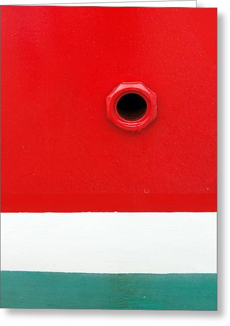 Drain Greeting Cards - Hole On Ship  Greeting Card by Mikel Martinez de Osaba
