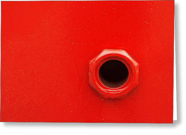 Drain Greeting Cards - Hole On Ship To Fill Petrol Greeting Card by Mikel Martinez de Osaba