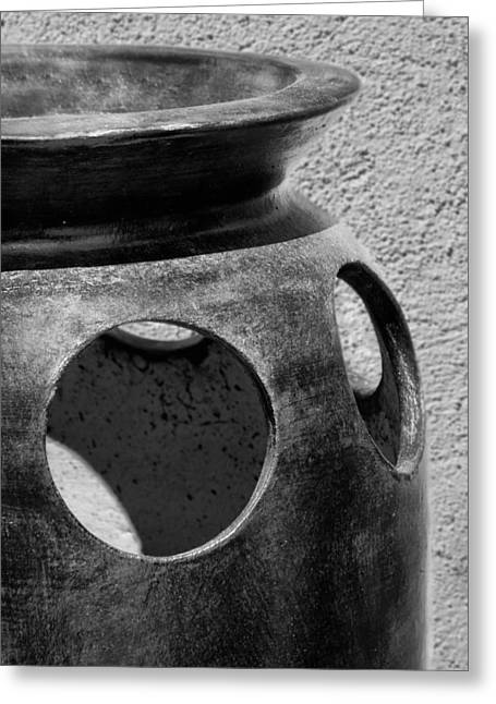 Holes In The Wall - Pottery Greeting Card by Nikolyn McDonald