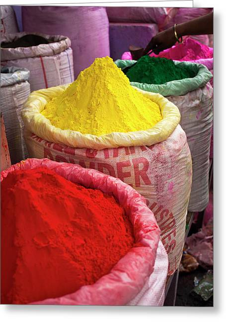 Holi Powder Paint For Sale Greeting Card by David H. Wells