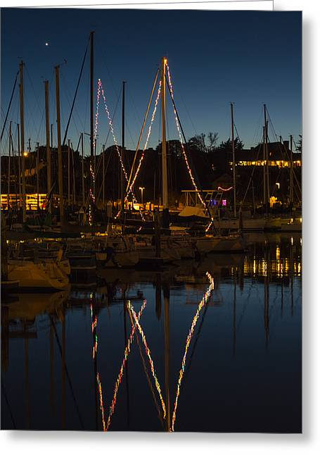 Holiday Boats Greeting Card by Loree Johnson
