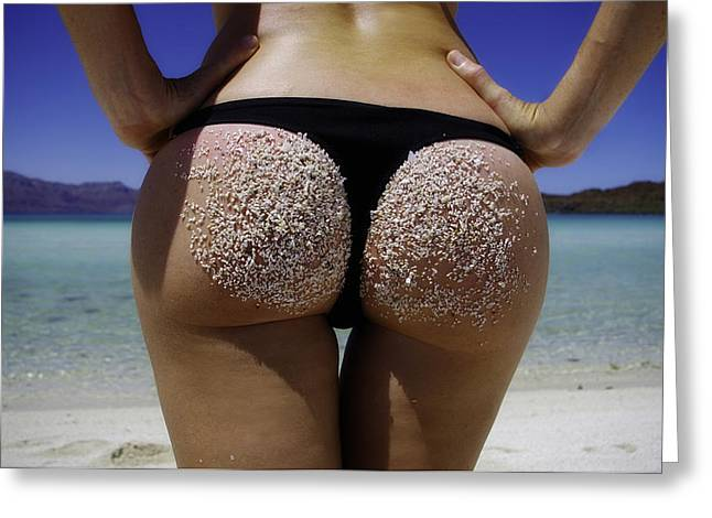 Butt Cheeks Greeting Cards - Holiday Greeting Card by Camilla Fuchs