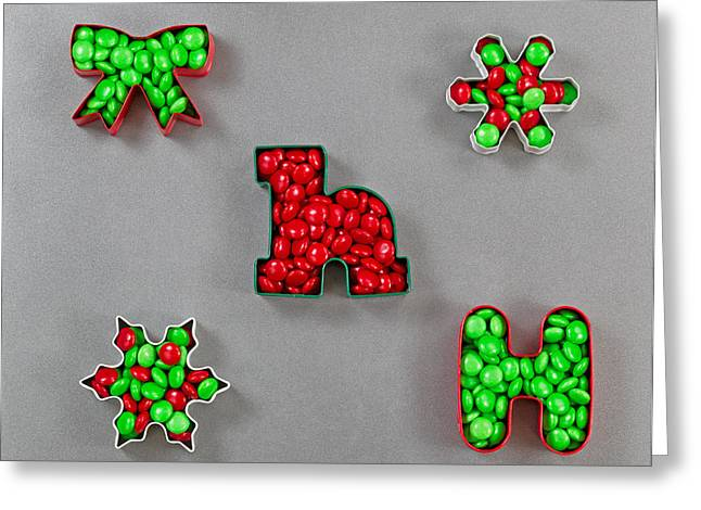 Metal Sheet Greeting Cards - Holiday Cookie Cutters filled with Candy  Greeting Card by Tom  Baker