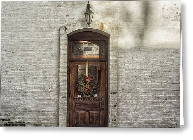 Holiday Door Greeting Card by Terry Rowe