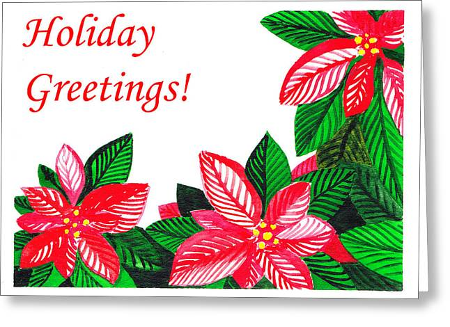 Christmas Art Greeting Cards - Holiday Greetings Greeting Card by Irina Sztukowski