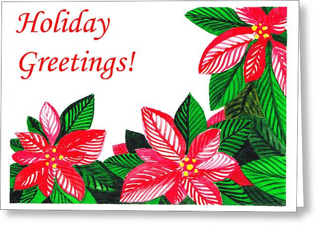 Holiday Greetings Greeting Card by Irina Sztukowski