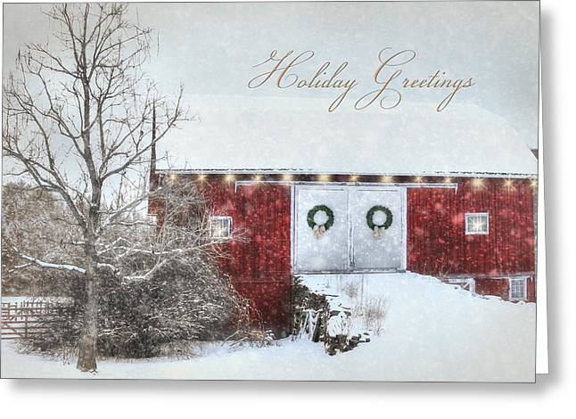 Wintry Digital Art Greeting Cards - Holiday Greetings Greeting Card by Lori Deiter