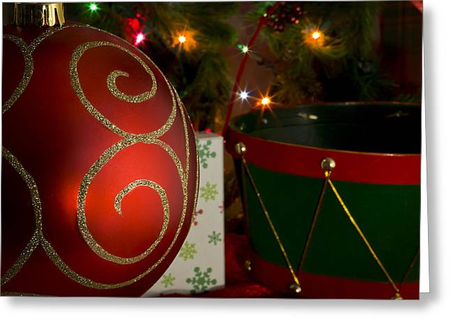 Basket Ball Greeting Cards - Holiday in Red Greeting Card by Mark McKinney