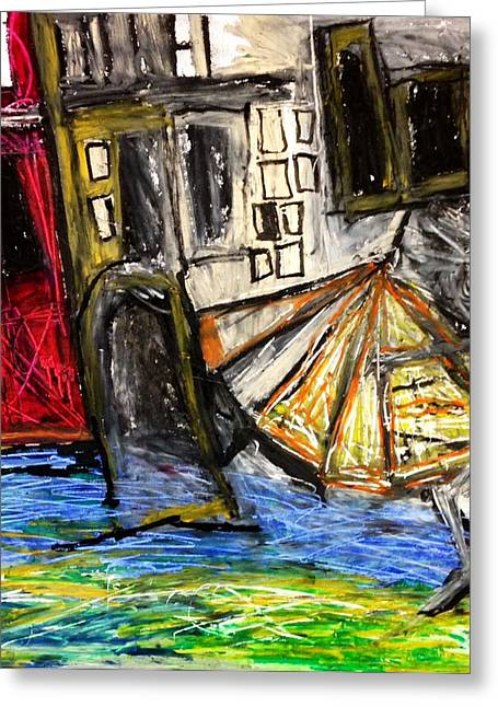 Basquiat Drawings Greeting Cards - Holiday in Venice Greeting Card by Helen Syron