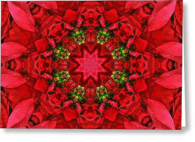 Award Winning Art Greeting Cards - Holiday Kaleidoscope IV Greeting Card by Dawn Currie
