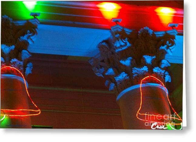 City Art Greeting Cards - Holiday Lights 2012 Denver City and County Building M2 Greeting Card by Feile Case