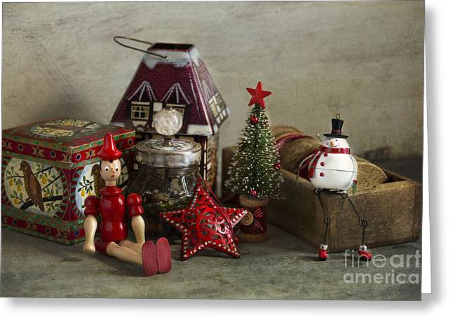 Christmas Greeting Greeting Cards - Holiday memories Greeting Card by Elena Nosyreva