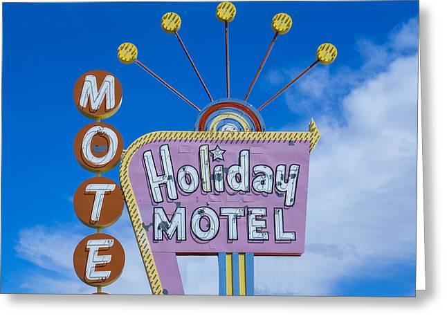 Nina Prommer Greeting Cards - Holiday Motel Greeting Card by Nina Prommer