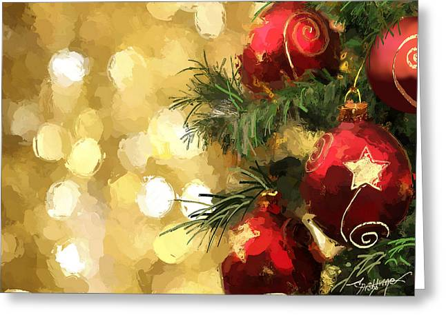 Holiday Ornaments Greeting Card by Anthony Fishburne