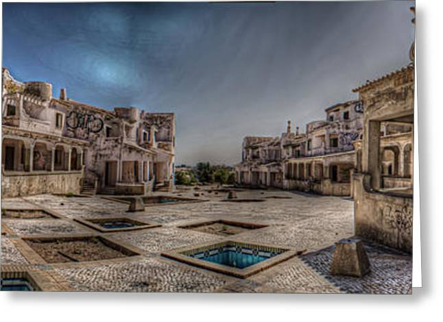 Empty Building Greeting Cards - Holiday pano Greeting Card by Nathan Wright