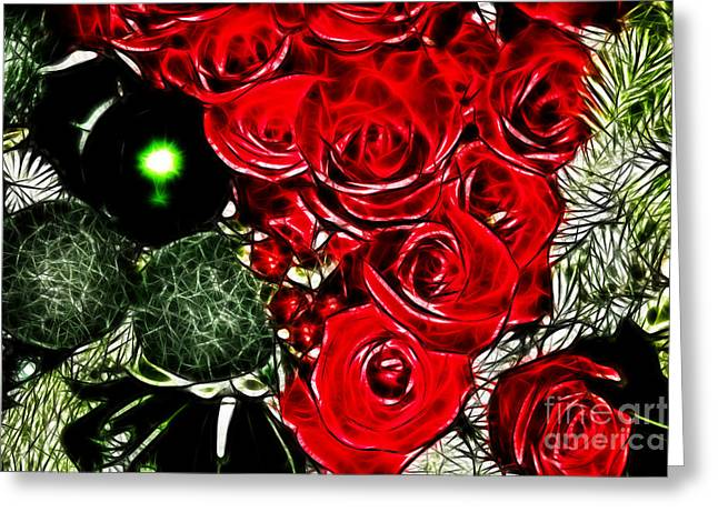 Wildlife Celebration Greeting Cards - Holiday Roses Greeting Card by Mariola Bitner