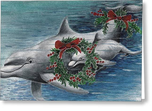 Sealife Posters Greeting Cards - Holiday Smile Greeting Card by Joy Bradley