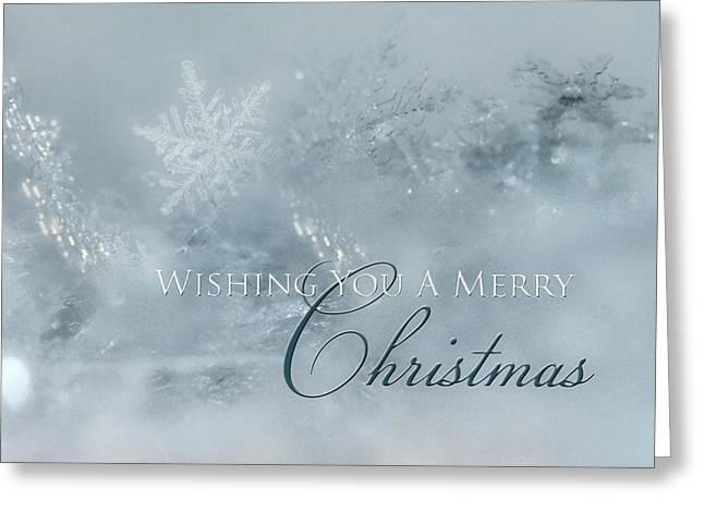 Holiday Snowflakes Greeting Card by Lori Deiter