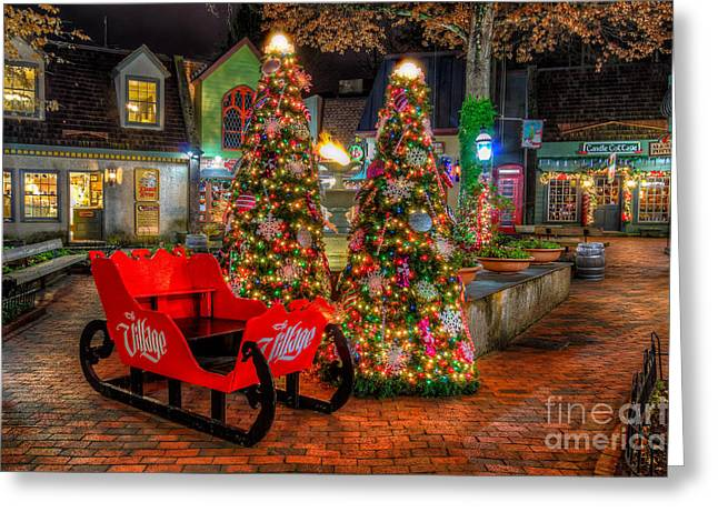 Gatlinburg Tennessee Greeting Cards - Cristmas in the Smokies Greeting Card by Anthony Heflin