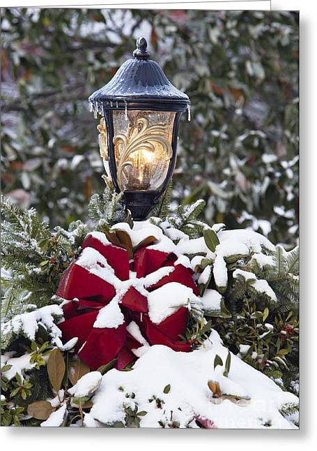 Indiana Christmas Greeting Cards - Holiday Warmth - D008685 Greeting Card by Daniel Dempster
