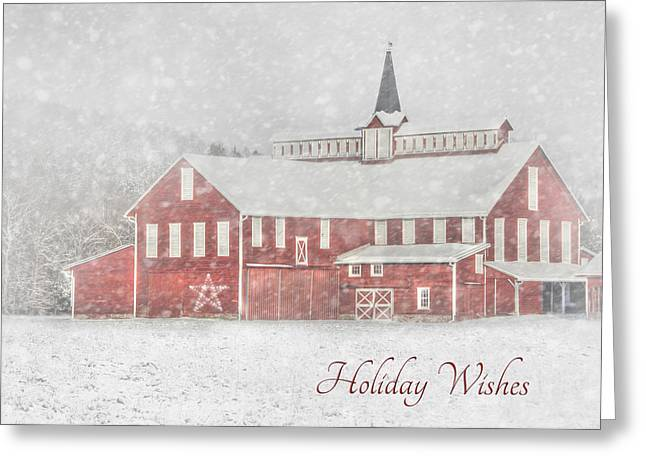 Wintry Digital Art Greeting Cards - Holiday Wishes Greeting Card by Lori Deiter