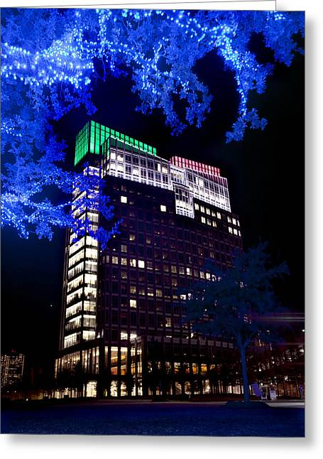 Ft Smith Greeting Cards - Holidays in Blue Greeting Card by Greg Kopriva