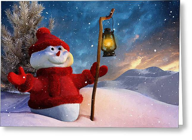 New Year Greeting Cards - Holidays New Year Greeting Card by Victor Gladkiy