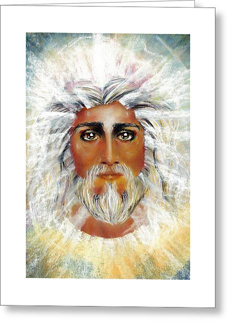 Thomas Pastels Greeting Cards - HOLINESS Pastel Eikons of Christ Greeting Card by Vicki Thomas